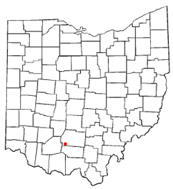 Location of Bainbridge, Ross County, Ohio