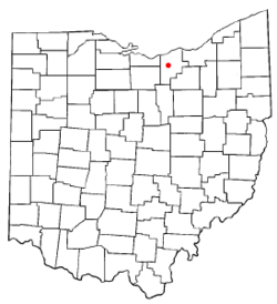Location of Oberlin, Ohio