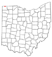 Location of Pioneer, Ohio