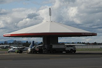 "Hillsboro Airport - Now retired refueling center at the airport, known as ""the mushroom"""