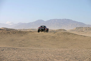 Ocotillo Wells, California - A 4x4 truck at the Ocotillo Wells State Vehicle Recreation Area