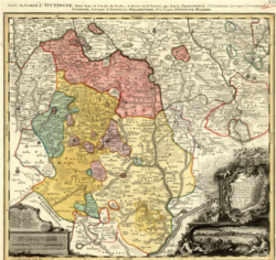 1744 map of the County of Oettingen