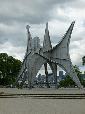 Alexander Calder - Trois disques, a sculpture by Alexander Calder for Expo 67, on Saint Helen's Island Parc Jean-Drapeau, Montreal, Quebec, Canada