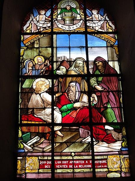 Ohain (Nord, Fr) église Saint-Martin, vitrail C (1888) par un verrier de Trélon