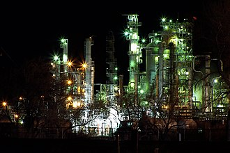 Casper, Wyoming - Sinclair's Casper refinery in nearby Evansville