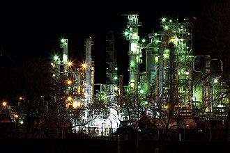Casper, Wyoming - Sinclair's Casper refinery in nearby Evansville