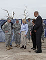 Oklahoma Gov. Mary Fallin, center, leads U.S. Army Gen. Frank Grass, left, the chief of the National Guard Bureau, and Oklahoma Commissioner of Public Safety Michael Thompson, right, through the Plaza Towers 130528-Z-VF620-4601.jpg