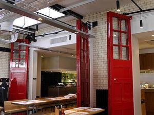 Wagamama - Wagamama interior, former Hammersmith Fire Station, 2014