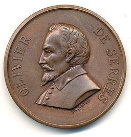 Olivier de Serres médaille avers