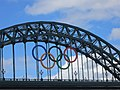 Olympic Rings on the Tyne Bridge (geograph 3068197).jpg