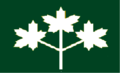 Ontario flag proposal 3 white ML on green.png