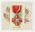 Order of Saint Anne, Russia, from the World's Decorations series (N44) for Allen & Ginter Cigarettes MET DP839366.jpg