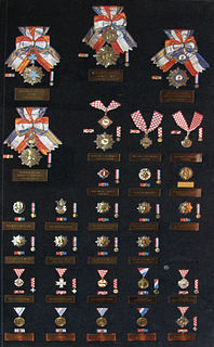Orders, decorations, and medals of Croatia Wikimedia list article