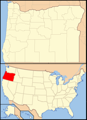 Andrews Forest - Image: Oregon Locator Map with US