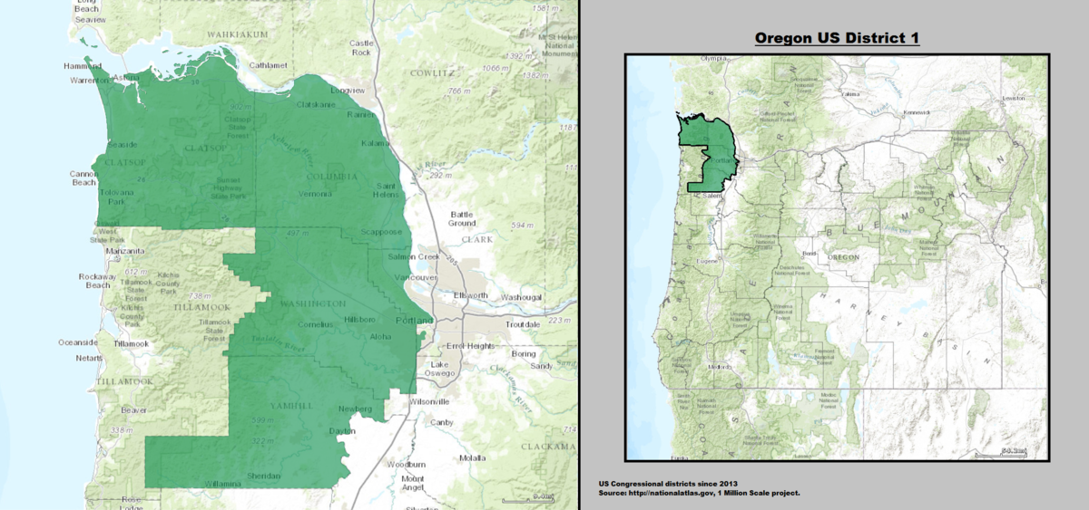 Oregons St Congressional District Wikipedia - Us 2011 congressional district map