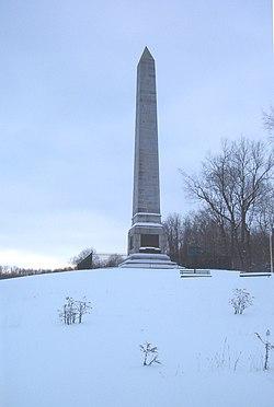 OriskanyBattlefield monument December2007.jpg