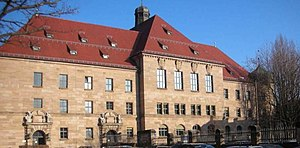 Nuremberg trials - The courthouse in Nuremberg, where the trials took place