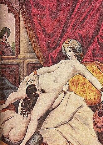 Achille Devéria - Image: Ottoman Cunnilingus Orientalism