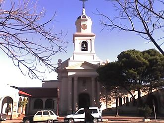 Moreno, Buenos Aires - Catedral Nuestra Señora del Rosario (Our Lady of the Rosary Cathedral), seat of the Diocese of Merlo-Moreno