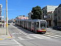 Outbound train at Taraval and 30th Avenue (1), September 2018.JPG