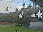 P-38 in at JBER unit logo 54th Fighter Squadron.jpg