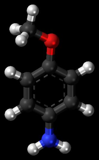 P-Anisidine - Image: P Anisidine 3D ball