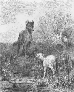 Image illustrative de l'article Le Loup et l'Agneau