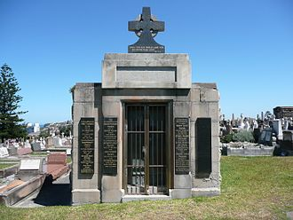 Frank Packer - Packers family tomb in South Head Cemetery in Vaucluse, New South Wales