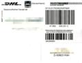 Paketaufkleber DHL, Paketmarke für Geschäftskunden 2016.png