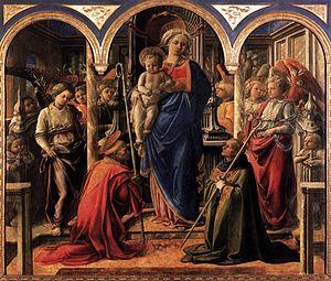 Barbadori Altarpiece - Image: Pala barbadori, louvre, lippi