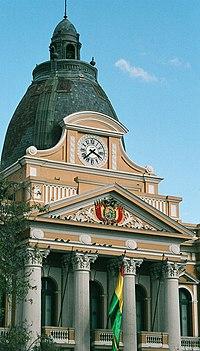 Cúpula del Palacio de Gobierno de Bolivia, en el centro de La Paz.