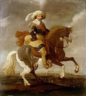 Palamedes Palamedesz - Frederik Hendrik on horseback