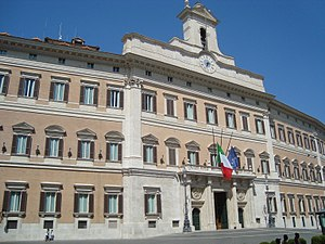 The Palazzo Montecitorio which hosts the Itali...