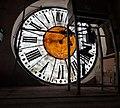 Palazzo degli Studi, Biblioteca Civica Romolo Spezioli (dettaglio dell'orologio) - Fermo (Marche), Italy.jpg