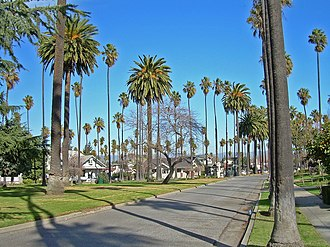 Palm Haven, San Jose - Image: Palms, Houses and Park (2144344823)