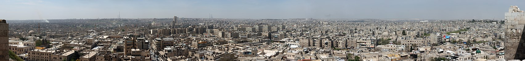 Panoramic view of Aleppo, Syria