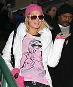Paris Hilton no Festival Sundance de Cinema de 2008, promovendo seu filme The Hottie and the Nottie.