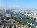 Paris View from the Eiffel Tower second floor Seine downstream 02d.jpg