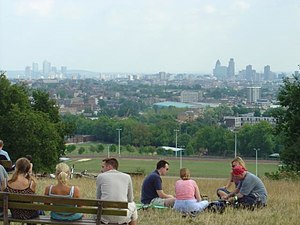 English: Parliament Hill, London. View over ce...