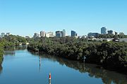 Parramatta skyline from James Ruse Drive