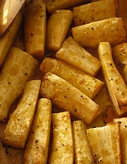 Parsnip with honey and mustard