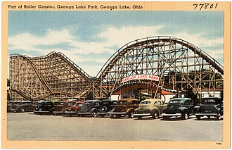 Big Dipper (Geauga Lake) - 1940s postcard view