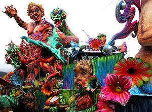 Pasto, Colombia - Carnival float Pasto, Colombia