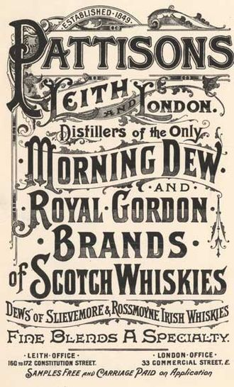 Pattison's whisky - Another Pattisons Ad