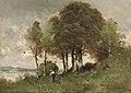 Paul-Désiré Trouillebert - Paysage fluvial boisé avec agriculteur.jpg