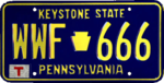 Pennsylvania license plate, 1987.png