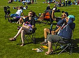 People watching early phase of 2017 solar eclipse in Riverside Park, Rexburg, ID.jpg