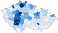 Percentage of photos of protected areas in the Czech Republic in 2011-06-26.png
