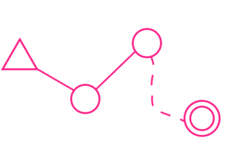 Course (orienteering) - An example of how control points are shown on an O map