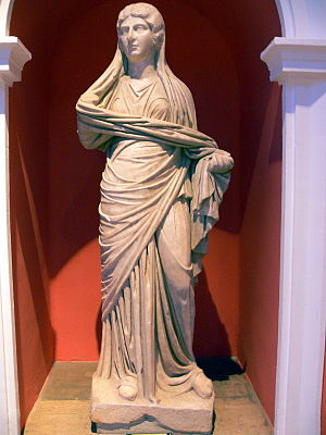Julia Soaemias - A full-body statue of Soaemias, in the Antalya Archaeological Museum, Turkey